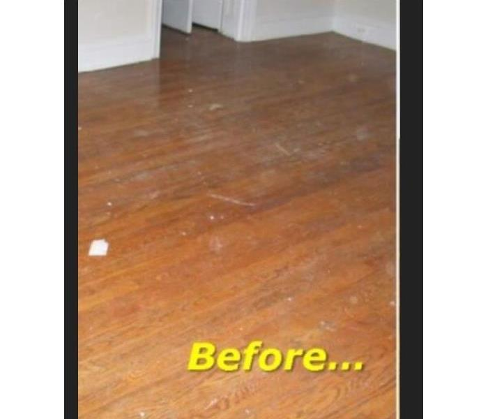 Hardwood floor damaged from water